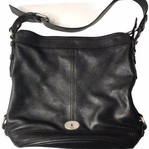 EUC Fossil Marlow Black Hobo Bag